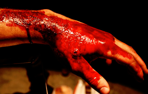 how to make fake blood that dries